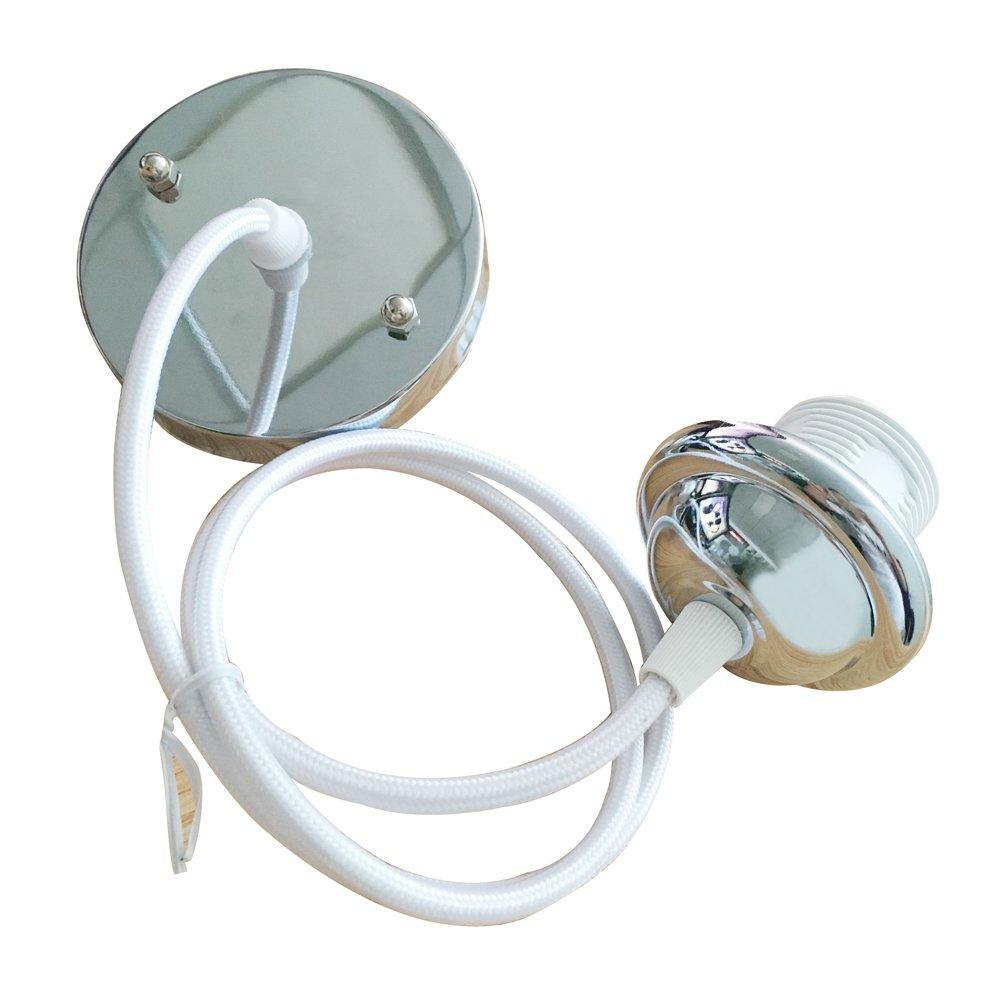 Inextstation 2 X Modern Braided Flex Ceiling Rose Pendant E27 Screw Lightceilingrose2lightsjpg Light Bulb Lamp Holder