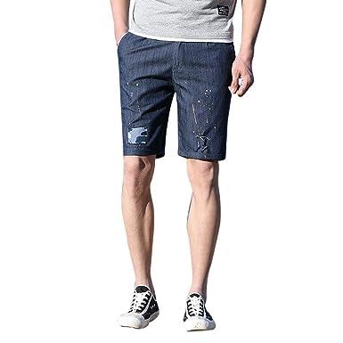 Pantalones Cortos para Hombre Slim Fit Ocio Diario Cómodo ...