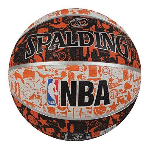 Spalding BB-SPALDING-GRAFFITE-WHTORNG-7 Basketball, Size 7 (White-Orange) Price & Reviews