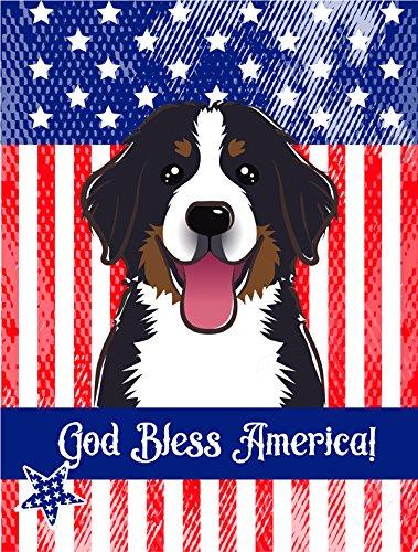 Bernese Mountain Dog Garden (Caroline's Treasures BB2167GF God Bless American with Bernese Mountain Dog Garden Flag, Small, Multicolor)