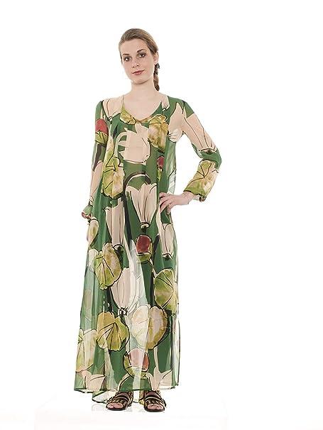 1a50f25bfe MANILA GRACE S08485 abito donna-Verde-40: Amazon.it: Abbigliamento