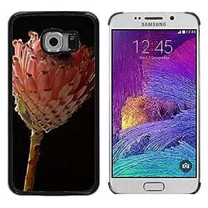 Etui Housse Coque de Protection Cover Rigide pour // M00150550 Estudio Flor africana Flor // Samsung Galaxy S6 EDGE (Not Fits S6)