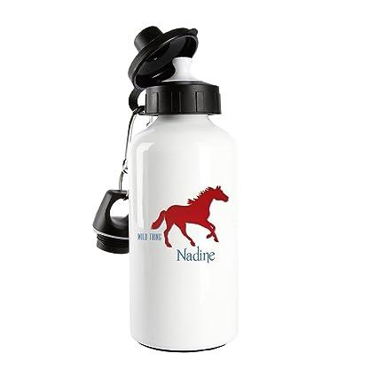 Botella de cristal de diseño Striefchen - Wild Thing - con diseño de caballo y el