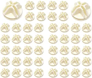 Gizhome Wire Cube Plastic Connectors for Wire Grid Cube Storage Shelving & Mesh Snap Organizer 50pcs - Cream