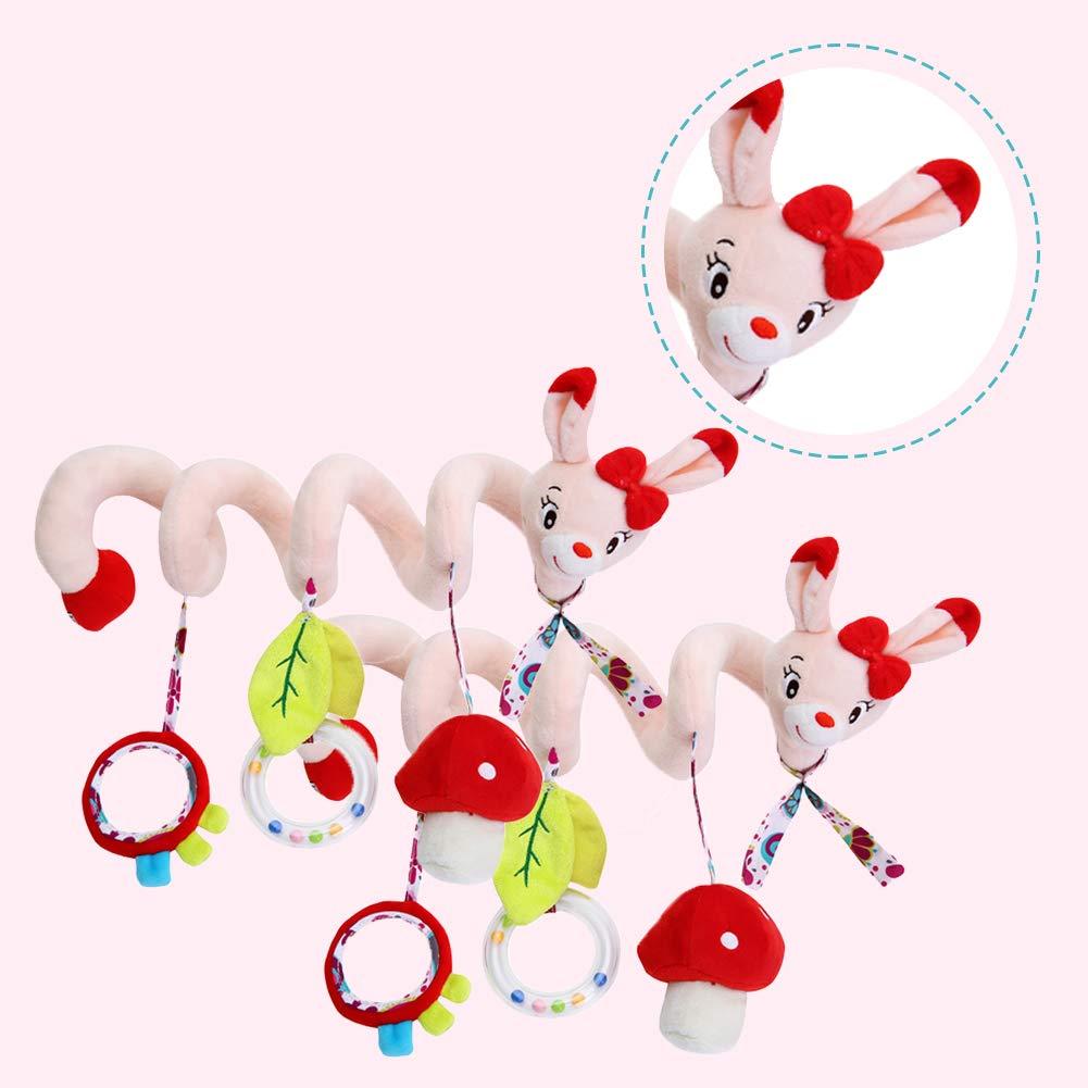 Adore store Hochet Jouets pour Les Chats Activit/é en Forme de Spirale Enroulable Berceau Lit Bassinet Poussette b/éb/é Toy Rail Suspendu Hochet Jouets 1pc