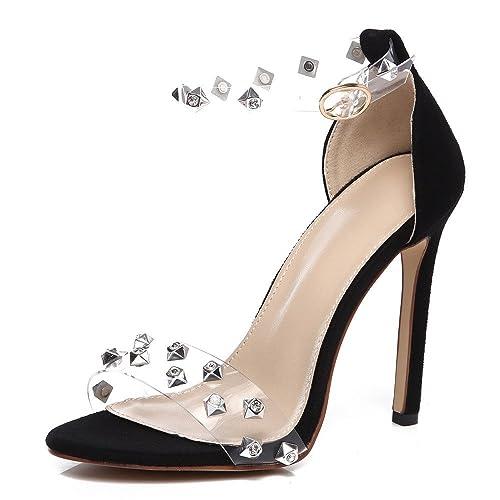 Tacón Sandalias Cinnamou Mujer De Vendaje Zapatos Alto sandalia 5AL4R3j