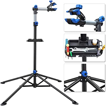 "Pro Adjustable Bike Repair Stand w// Telescopic Arm 52/"" To 75/"" Cycle Bicycle Rack"