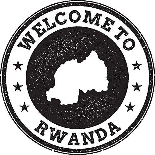 Rwanda Map Grunge Welcome Stamp Home Decal Vinyl Sticker 12'' X 12''