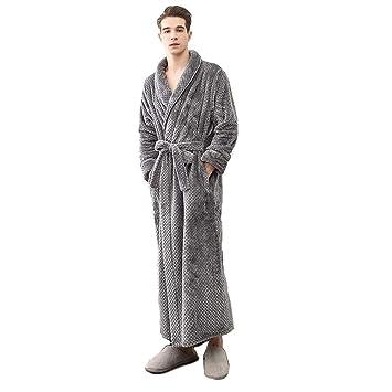 BCL-Pijama Bata para Hombre Bata De Cuerpo Entero Algodón Toalla De Baño Albornoz Ligero (Color : Gray, Tamaño : Metro): Amazon.es: Hogar