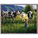 Pure Country Inc. Anniken and The Cows Blanket Tapestry Throw