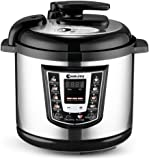 CookJoy Pressure Cooker 6 Litre 8-in-1 Multipurpose Electric Pressure Cooker, 1000W, Stainless Steel Material (Silver White)
