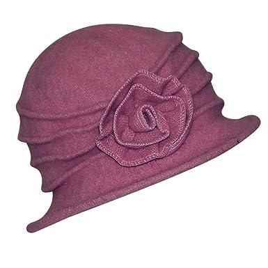 c5160144195 Chapeau-tendance - Chapeau cloche rosi - - Femme  Amazon.fr ...