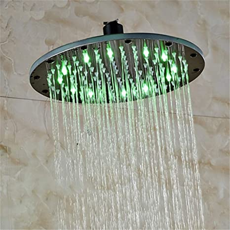Square Chrome Ceiling Shower Heads 8//10//12//16 inch Rainfall Shower Head Round