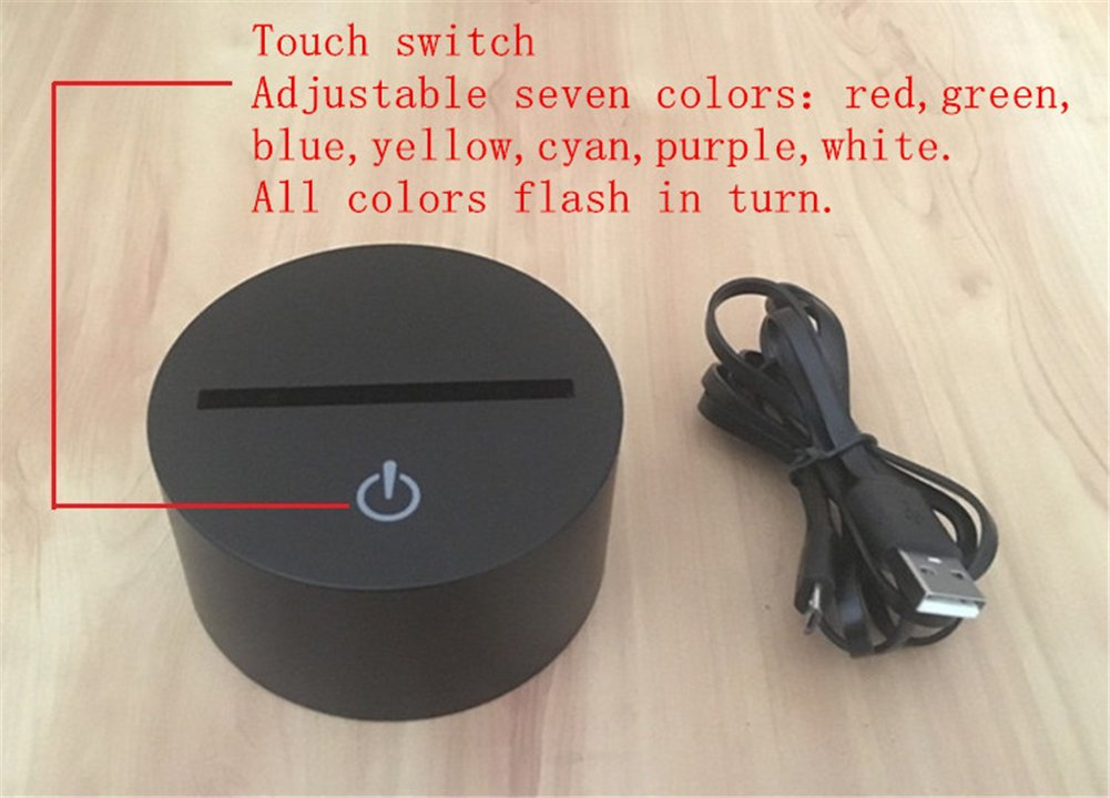 SUPERNIUDB 3D LED Rabbit Nightlight 7 Color Changing Desk Table Lamp Lights Christams Gift
