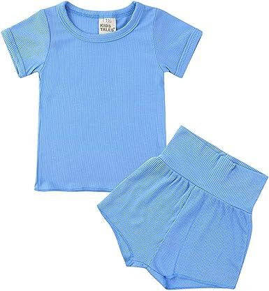 Conjunto de pijama de manga corta para bebés y niñas de ...