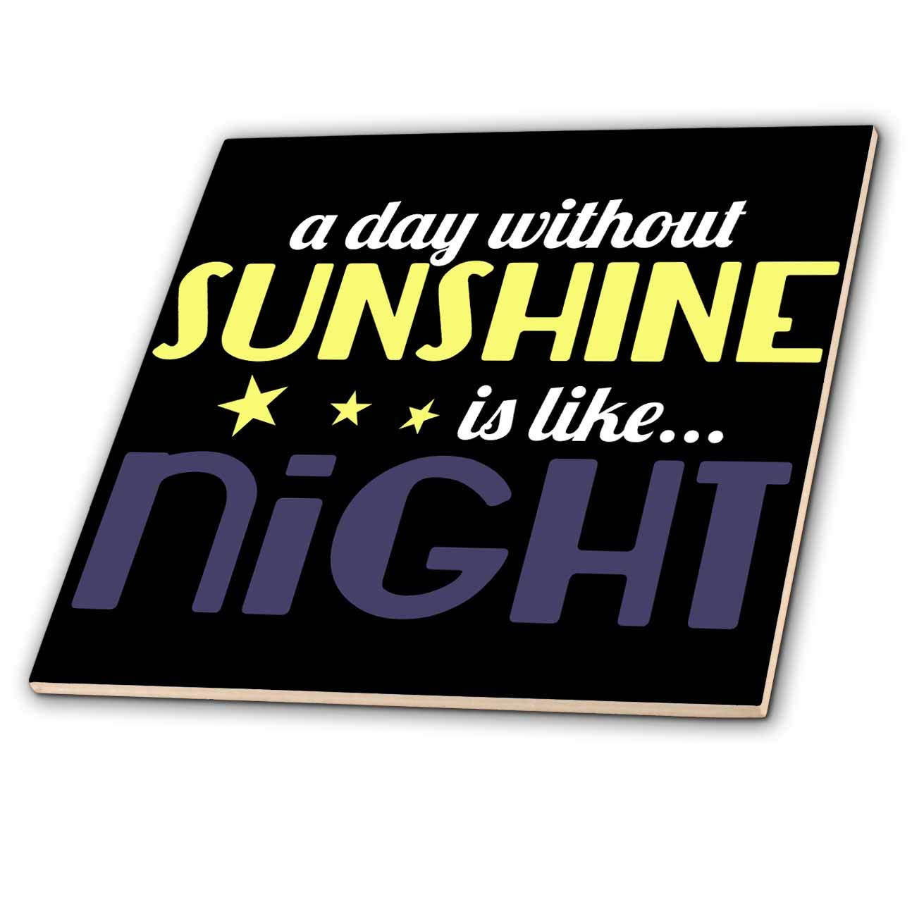 A Day Without Sunshine is Like Night 3dRose Anne Marie Baugh Quotes T-Shirts Funny Quote