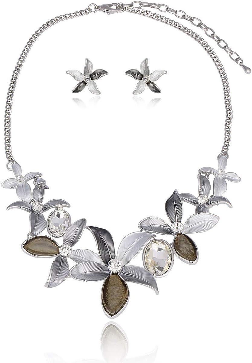 mart AMYJANE Vintage Free shipping Statement Jewelry Set - Spring Leaf Bohem Floral