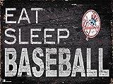 "Fan Creations New York Yankees 12"" x 6"" Eat Sleep Baseball Wood Sign"