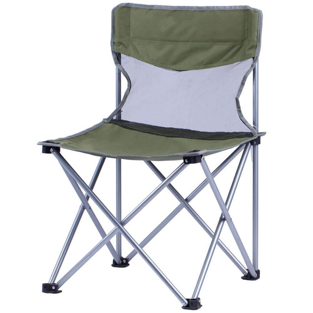 ベンチ 折り畳み式の椅子ポータブル釣りのビーチ背部のレジャーキャンプ用ピクニック椅子 (A++) (色 : 緑) B07DBQ2MMW  緑