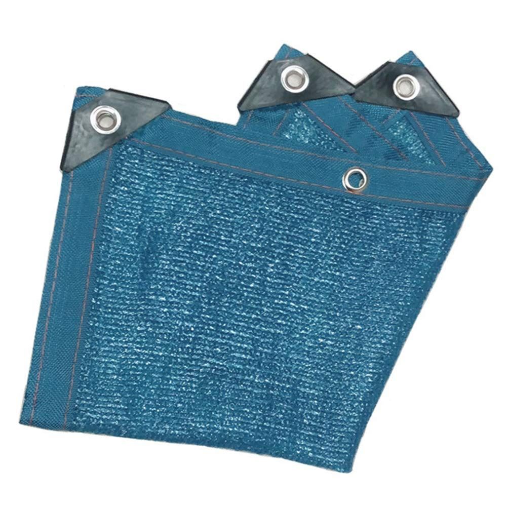 WZHIJUN オーニングシェード遮光ネット 90% 暗号化 遮光ネット パティオ バルコニー 温室 青 シェーディングネット 23サイズ (Color : Blue, Size : 6x8m) B07SX3VVL3 Blue 6x8m