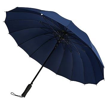 G4free Paraguas de Abre Automáticamente DE 51 Pie, Grande, Resistente al Viento y al