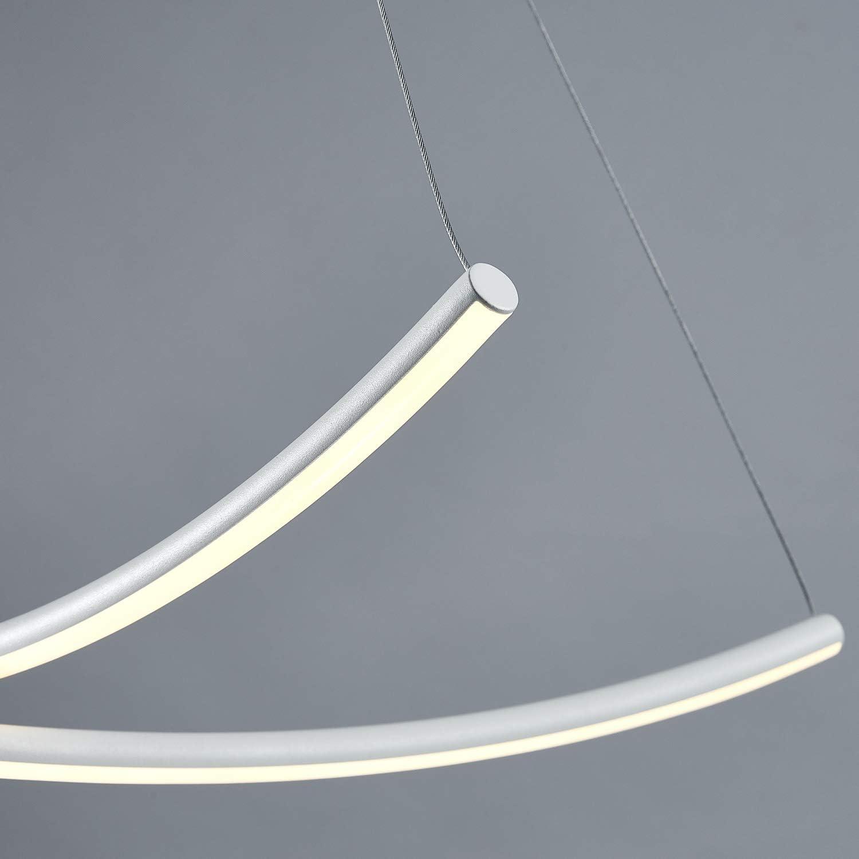 lerniciato bianco camera da letto colore chiaro 3000K bianco caldo 1000 lumen Saint Mossi Lampadario a LED moderno Lampadario a soffitto a Design a croce per soggiorno sala da pranzo