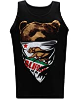 California Republic White Bandana Men's Muscle Tee Tank Top