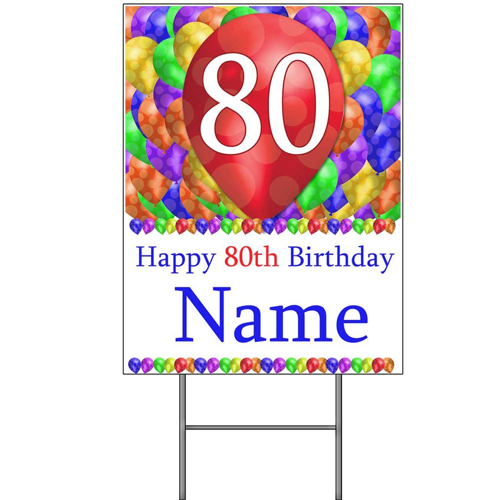 Partypro 80TH CUSTOMIZED BALLOON BLAST YARD SIGN (EACH) by