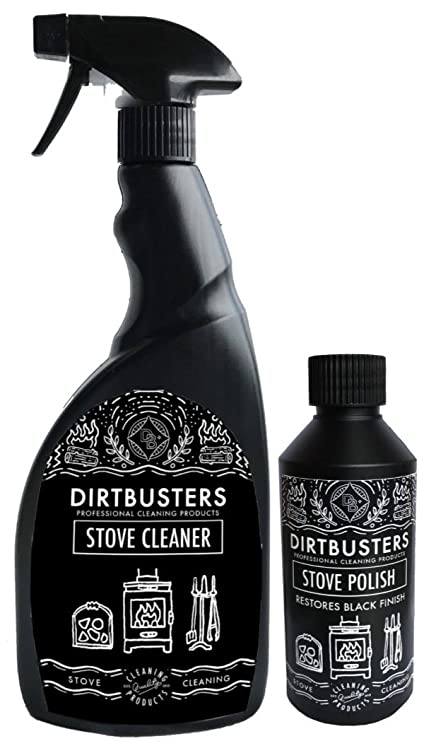 Dirtbusters Black Stove And Grate Polish 250ml And Stove Cleaner Restores Exterior Of Wood Burning Stoves Fireplace Grates And Log Burners