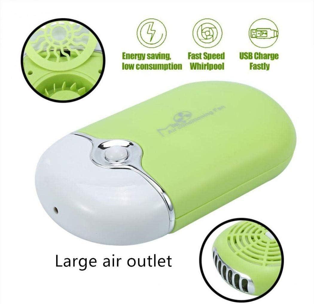 Hanime - Mini Ventilador portátil USB sin ventosas. Ventilador de ...