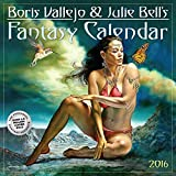 img - for Boris Vallejo & Julie Bell's Fantasy Wall Calendar 2016 book / textbook / text book