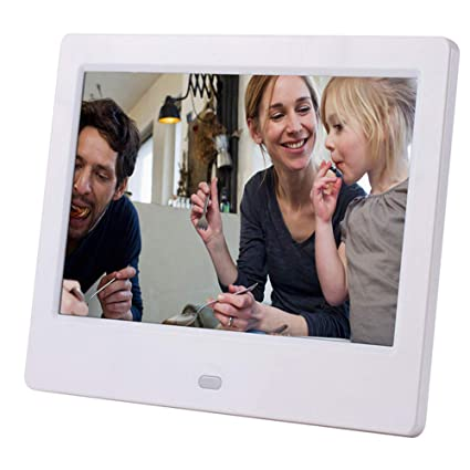 7 inch Home Desktop Digital Photo Frame 1024 /× 600 Resolution HD Advertising Player Wall Hanging White Color, Black Color