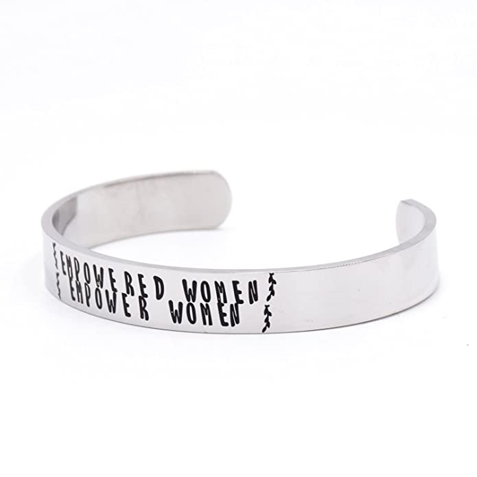 Empowered Women Empower Women Metal Stamped Stainless Steel Cuff Bracelet Political Statement Feminist Feminism w3hVxHXO