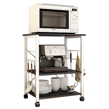 Amazon.com: Estante de cocina de 3 niveles de Soges con ...