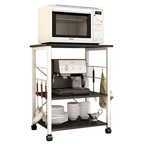 soges 2tier microwave cart utility cart with wheel microwave stand kitchen bakeru0027s rack utility