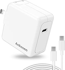 65W USB C Charger Fast Wall Charger, [GaN Tech], PD 3.0 Power Adapter, Mac Book Charger, for Mac Book Pro Air,Galaxy, Switch, i Pad Pro,i Phone 12 Max. All Type C laptops and Phones.(6.6ft/2m)