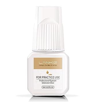 47e4a7c1803 LANKIZ Individual Eyelash Glue - 5ml FOR PRACTICE USE Semi Permanent Eyelash  Glue 3 Sec Drying