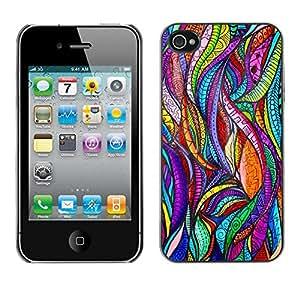X-ray Impreso colorido protector duro espalda Funda piel de Shell para Apple iPhone 4 / iPhone 4S / 4S - Floral Art Stained Glass Sun God