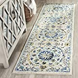 Safavieh EVK252C-25 Evoke Collection Ivory and Blue Area Rug, 2'2″ x 5 Review