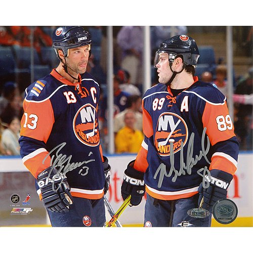 Steiner Sports NHL New York Islanders Mike Comrie Talking with Bill Guerin Dual Signed 16 x 20-inch Photo by Steiner Sports