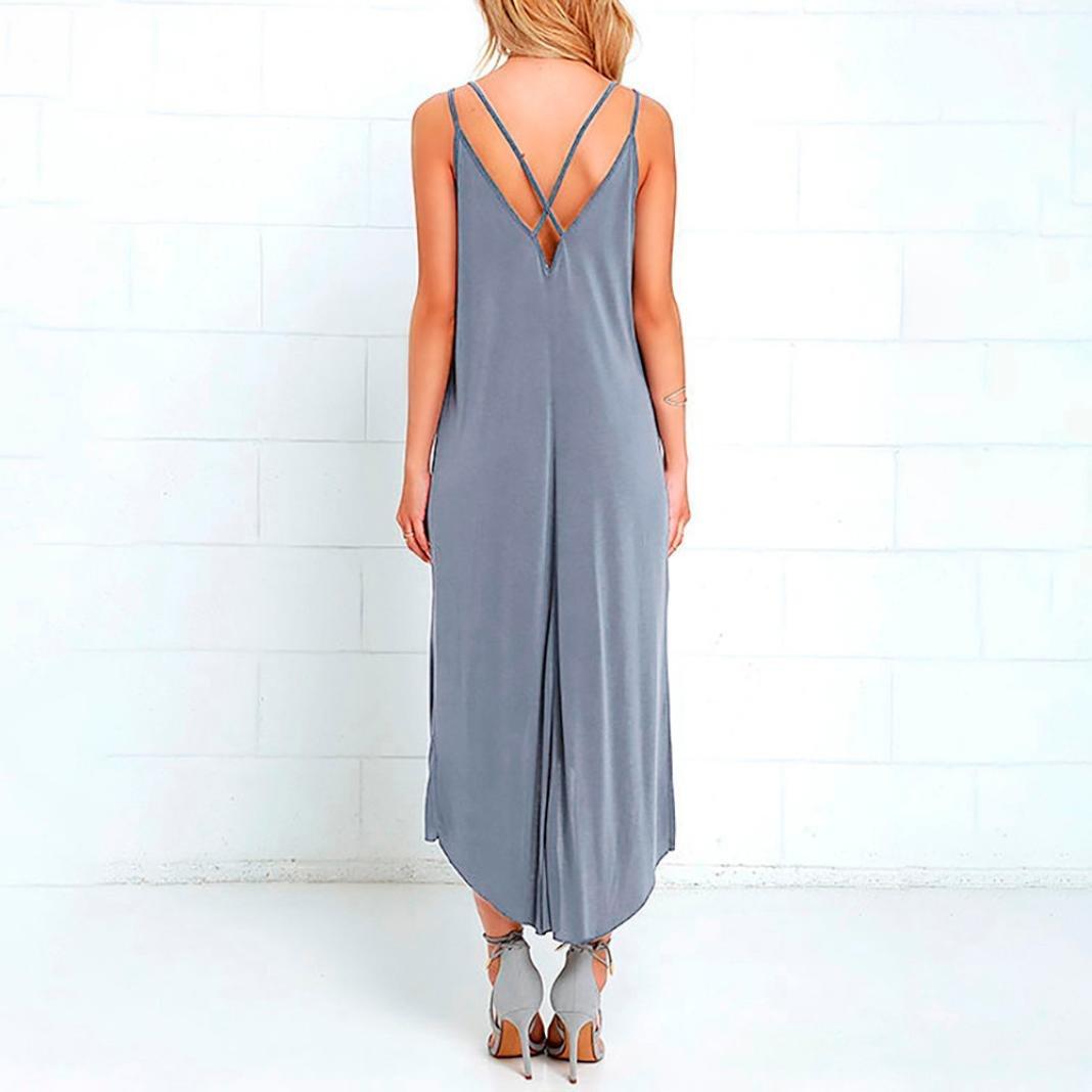 355a453ba07ae Leewos 2018 New! Maxi Dress, Women Summer Sexy V-Neck Evening Party Dress  Loose Beach Sundress Long Dresses at Amazon Women's Clothing store: