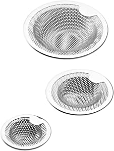 Kitchen Sink Strainer Basket Catcher with Upgrade Handle,anti-clogging Stainless Steel Drain Filter Strainer for Most 3-1/2 Inch Kitchen Drains (3-pack)