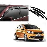 Auto Pearl Car Side Window Visor for Tata Tiago (Set of 4, Black)