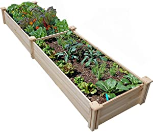 Wood Raised Garden Bed Boxes Kit Elevated Flower Bed Planter Box for Vegetables Natural Wood (Wood, 96