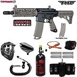 Tippmann TMC MAGFED Elite Remote HPA Paintball Gun Package - Black / Tan