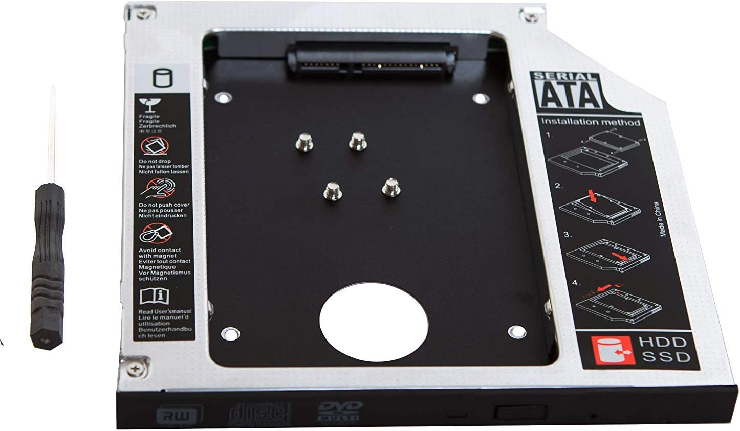 Generic 2 nd HDD Disco Duro SSD Caddy Adaptador para Dell ...
