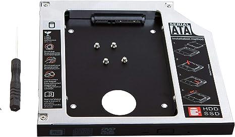 Generic 2 nd HDD Disco Duro SSD Caddy Adaptador para Dell ...