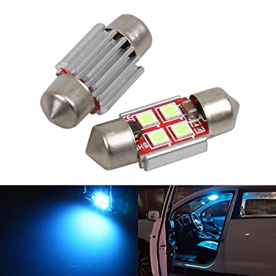 LED 31mm DE3175 DE3021 DE3022 Bulb Dome Light Ice Blue 8000K 3030 SMD for Cars Map License Plate Trunk Interior Lights Lamp Replacement Festoon Extremely Bright 12V 2W 1 Year Warranty 1.22 inch【1797】: Automotive