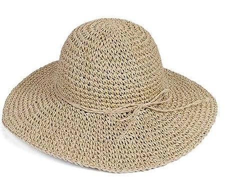 QSCS Asadfd Gorra con Visera, Sombrero de Paja de Playa de Verano ...