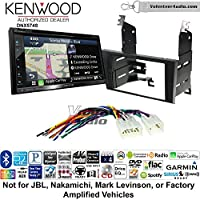 Volunteer Audio Kenwood DNX574S Double Din Radio Install Kit with GPS Navigation Apple CarPlay Android Auto Fits 1998-2005 Lexus GS Series